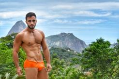 Bruno veste sunga EXODIA CLASSIC laranja ((R$109)