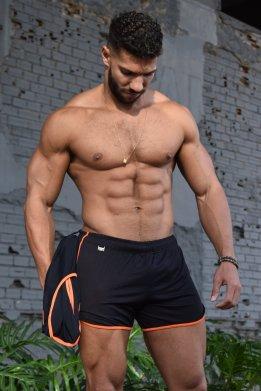 Conjunto dry fit laranja e preto