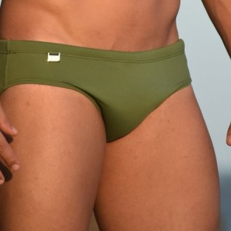 Sunga cavada SLIM verde floresta POCKET
