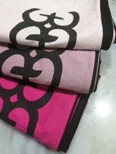 Cangas premium Exodia em rosa fuchsia, rosa claro e rosa nude