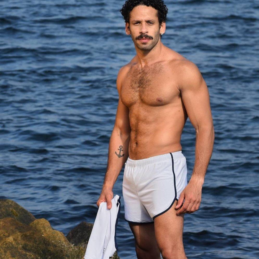 Conjunto fitness dry fit branco e marinho