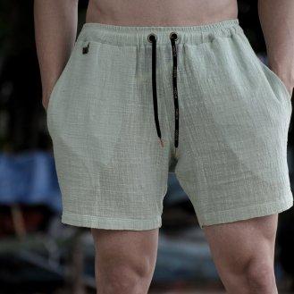 Shorts em algodâo tecnológico