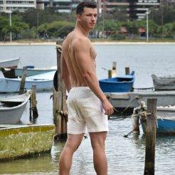 Shorts Resort Wear em algodâo tecnológico