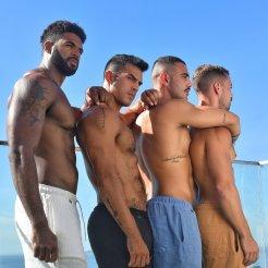 Shorts Resort wear em algodão texturizado